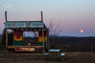 Spring Equinox Supermoon Rising at Saratoga Apple