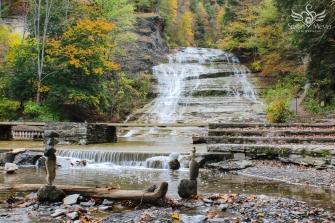 Balance at Buttermilk Falls