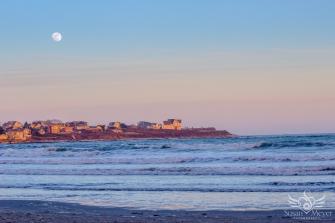 Eastons Beach Moonrise