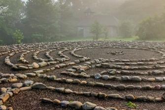 Labyrinth Foggy Morning