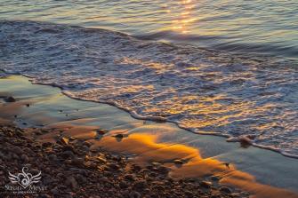Sparkling Shoreline at Sunrise