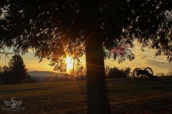Sunrise at Saratoga Monument