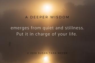 A deeper wisdom