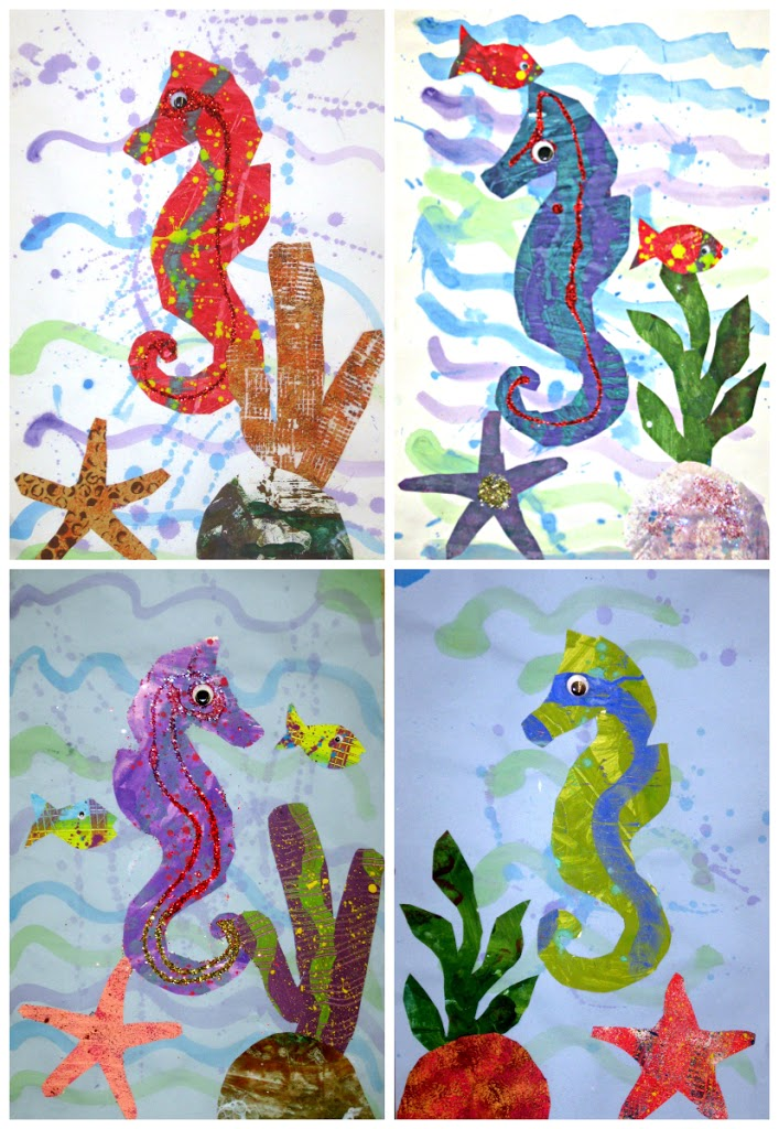 Seahorses Inspired by Eric Carle