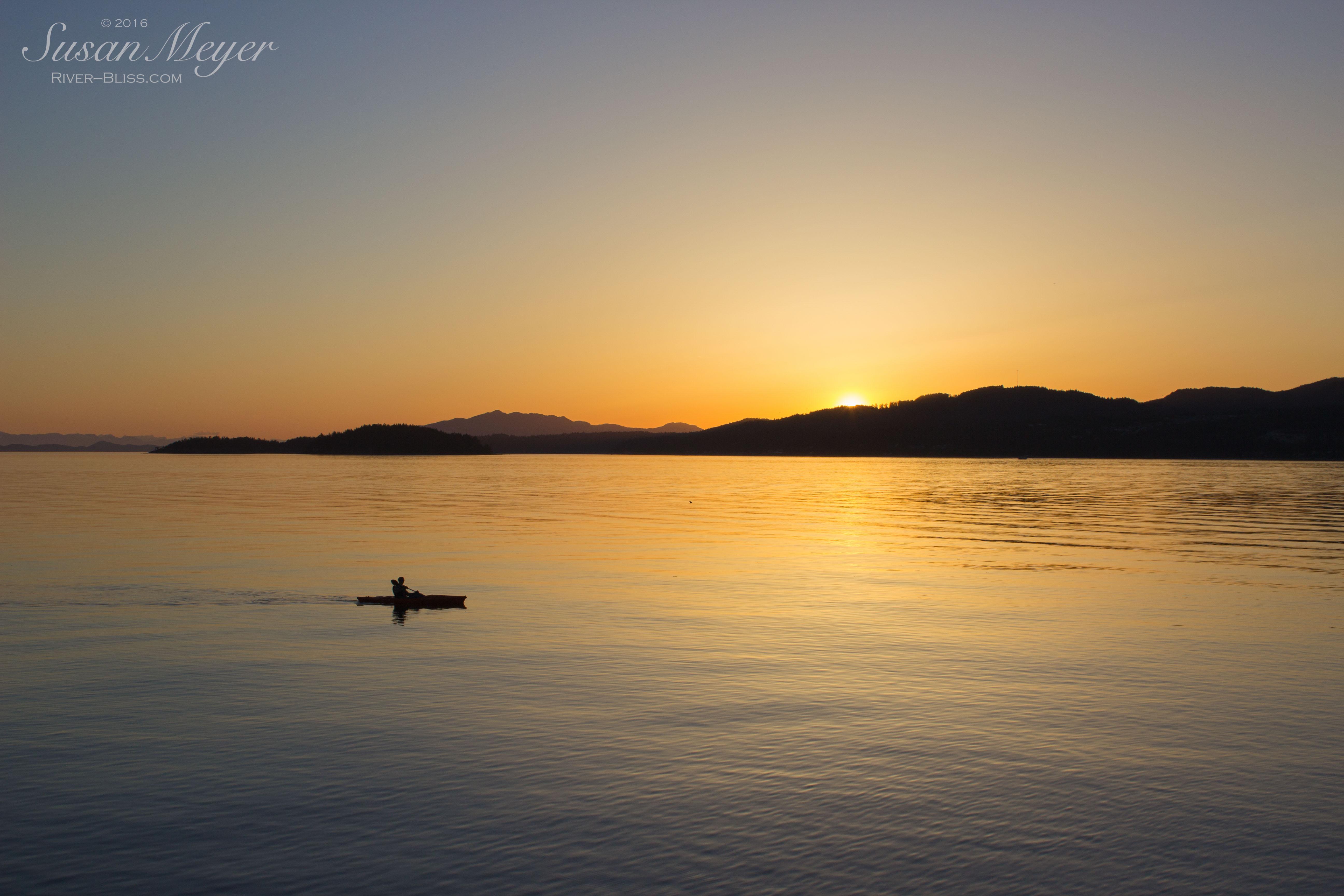 Davis Bay Sunset Kayaker