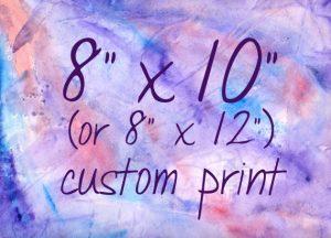 Custom Print 8x10/8x12