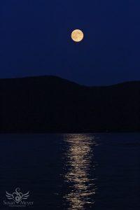 Moonrise over Lake George