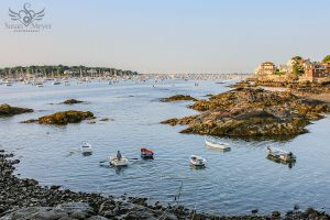 Morning Row Boat at Marblehead Bay