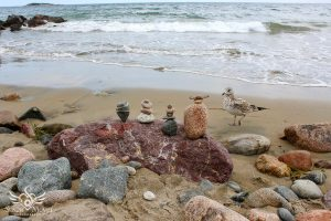 Stone Balances by the Sea (for the Birds)