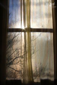 Sunrise Through the Curtain
