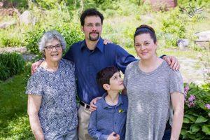 Three Generations Family Portrait