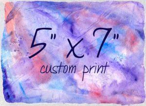 Custom Print 5x7