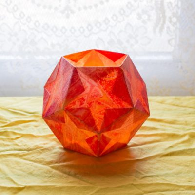 Orange Red Dodecahedron Lantern