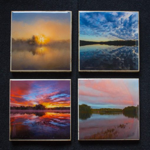 Reflections of the Hudson River Photo Coasters